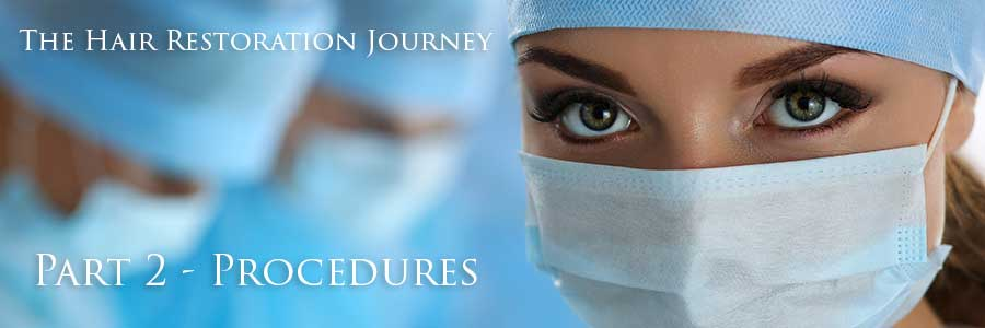 Woman wearing surgical mask. With a text*THE HAIR RESTORATION JOURNEY PART2-PROCEDURES*