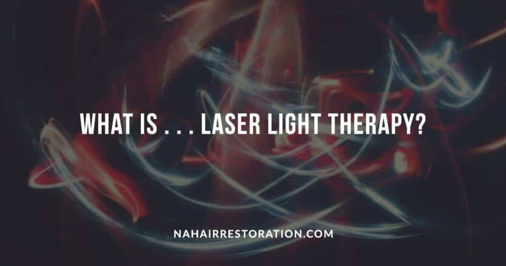 "red and light blue laser light with the text, ""WHAT IS LASER LIGHT THERAPY?"""